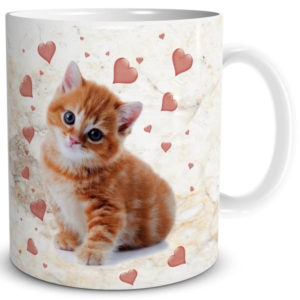 Katzen Herzen, Tasse 300 ml