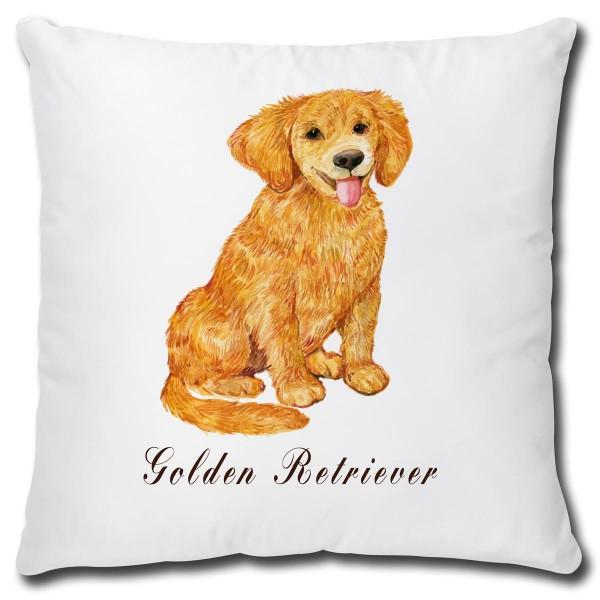 Golden Retriever Hund, Kissen 40x40 cm