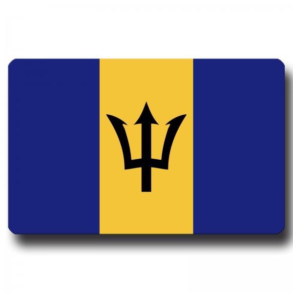 Flagge Barbados, Magnet 8,5x5,5 cm