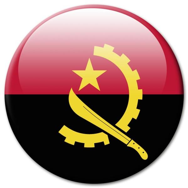 Flagge Angola, Magnet 5 cm