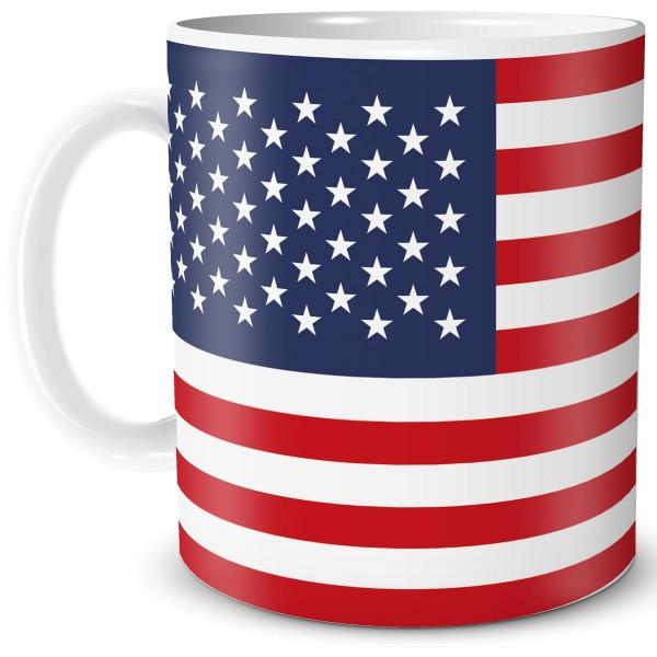 Flagge USA, Tasse 300 ml