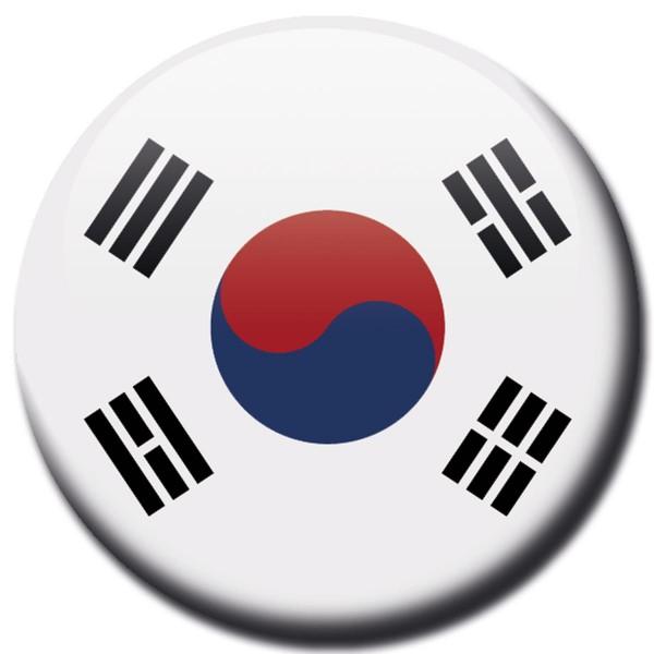 Flagge Korea Süd, Magnet 5 cm