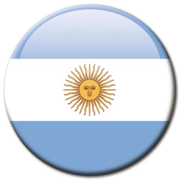 Flagge Argentinien, Magnet 5 cm