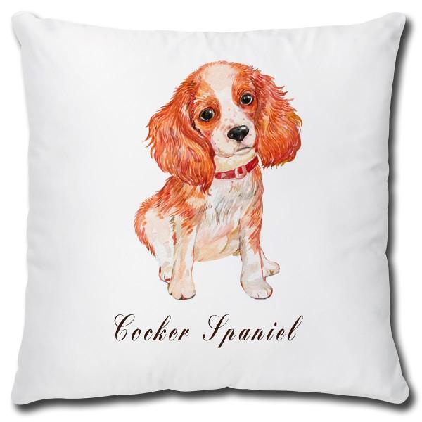 Cocker Spaniel Hund, Kissen 40x40 cm