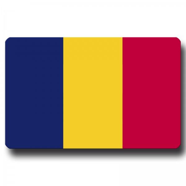 Flagge Tschad, Magnet 8,5x5,5 cm