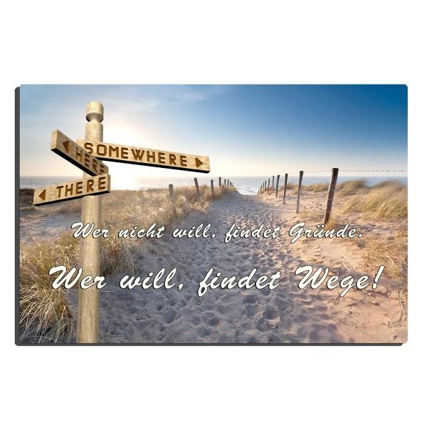 Strand Wegweiser, Blechschild 20x30 cm