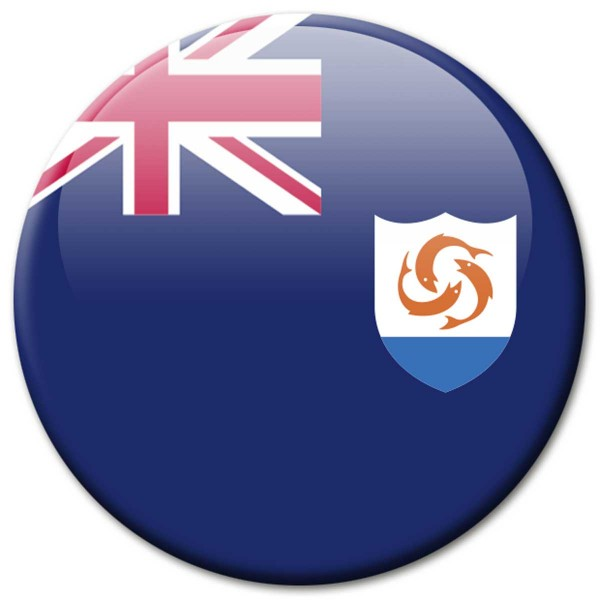 Flagge Anguilla, Magnet 5 cm
