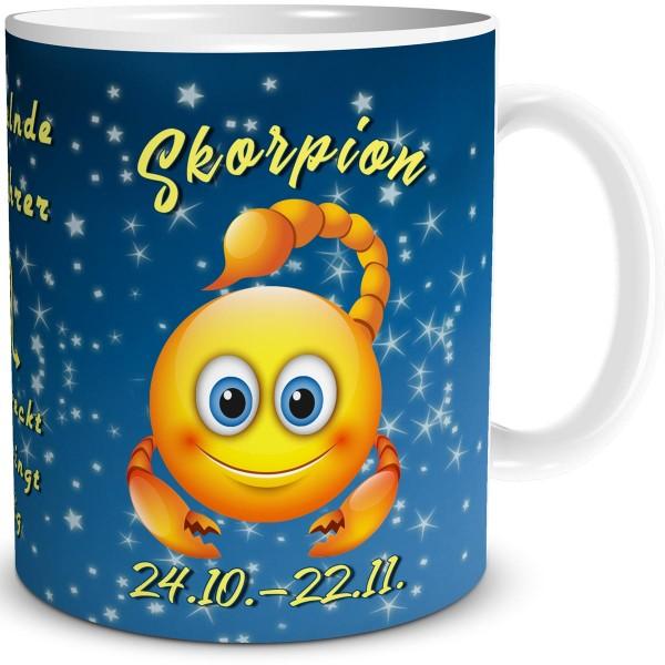 Sternzeichen Skorpion Smiley, Tasse 300 ml