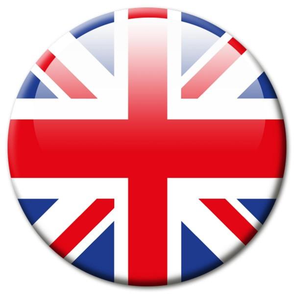 Flagge UK United Kingdom, Magnet 5 cm