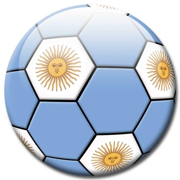 Magnet Fußball - Flagge Argentinien - Ø 5 cm