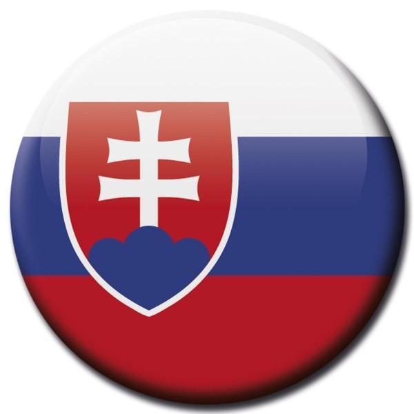 Flagge Slowakei, Magnet 5 cm