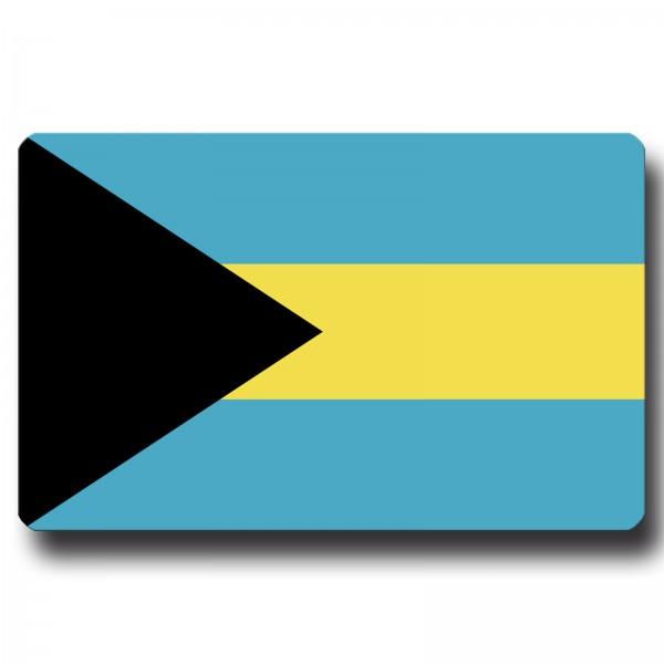 Flagge Bahamas, Magnet 8,5x5,5 cm
