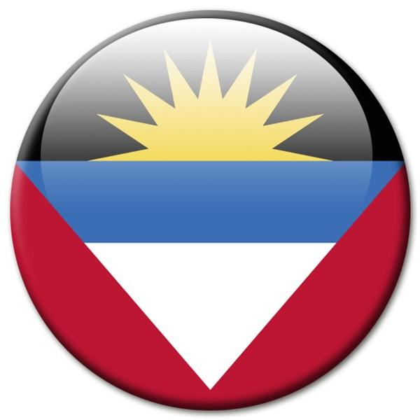 Flagge Antigua & Barbuda, Magnet 5 cm