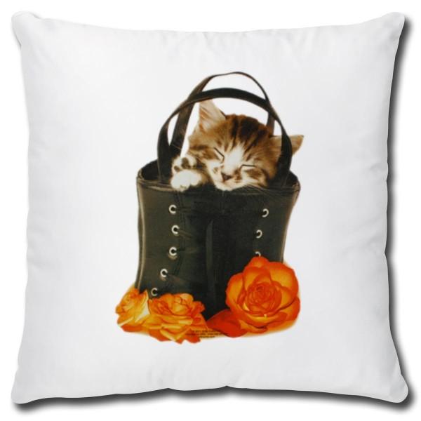 Katze in Black Bag, Kissen 40x40 cm
