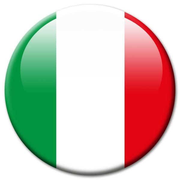 Flagge Italien, Magnet 5 cm