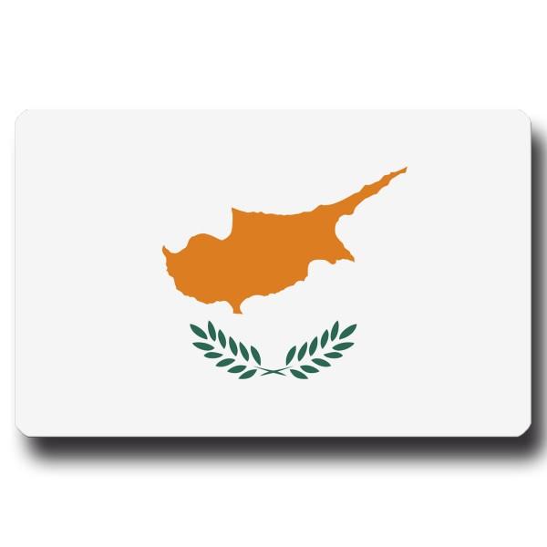 Flagge Zypern, Magnet 8,5x5,5 cm