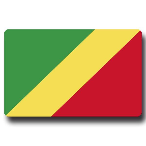 Flagge Kongo Republik, Magnet 8,5x5,5 cm