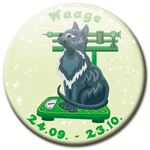 Magnet Katze - Sternzeichen Waage - Ø 5 cm