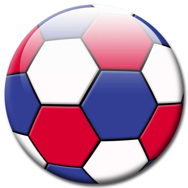 Magnet Fußball - Flagge Frankreich - Ø 5 cm