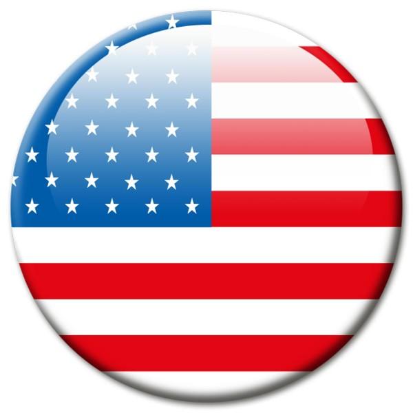 Flagge USA, Magnet 5 cm
