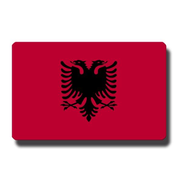 Flagge Albanien, Magnet 8,5x5,5 cm