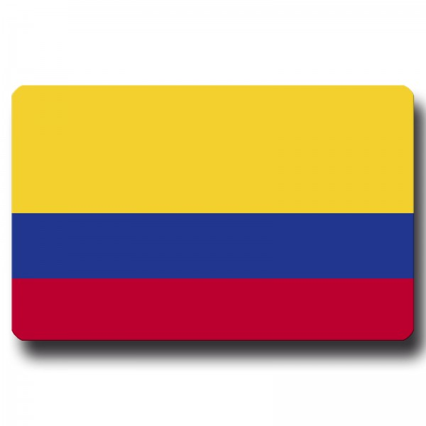 Flagge Kolumbien, Magnet 8,5x5,5 cm
