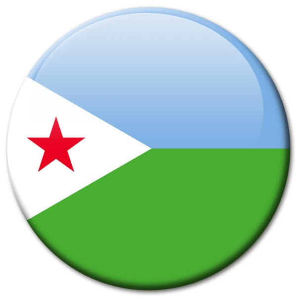 Flagge Dschibuti, Magnet 5 cm