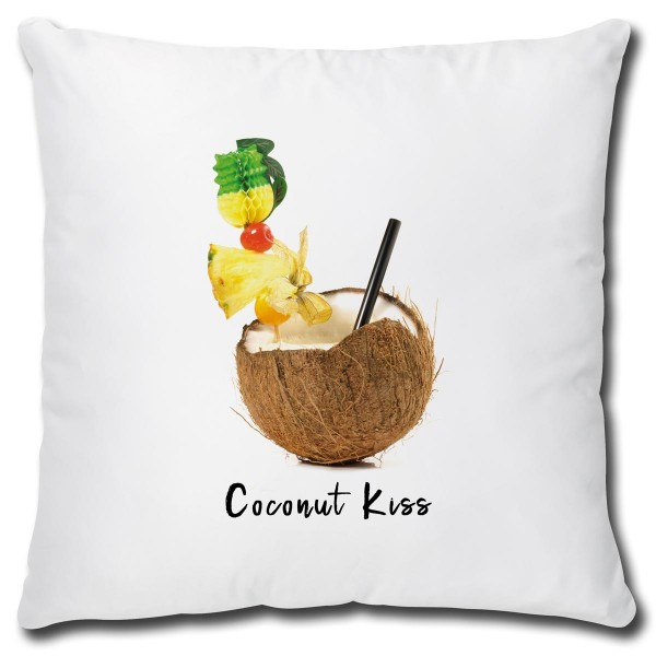 Cocktail Coconut Kiss, Kissen 40x40 cm
