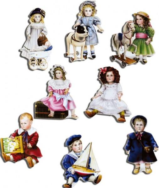 Magnete 8er-Set Nostalgische Puppen
