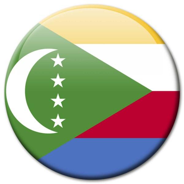 Flagge Komoren, Magnet 5 cm