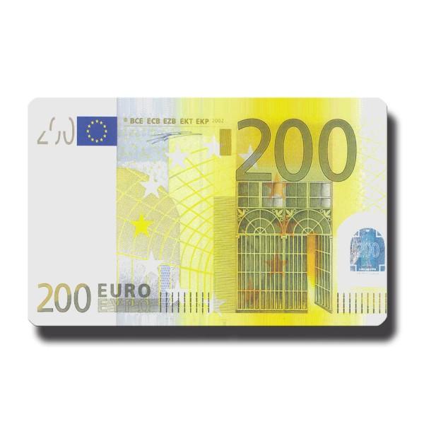 200 Euroschein, Geldschein Magnet 8,5x5,5 cm