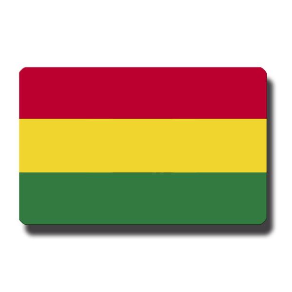 Flagge Bolivien, Magnet 8,5x5,5 cm