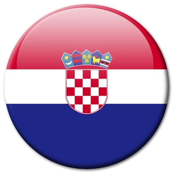 Flagge Kroatien, Magnet 5 cm
