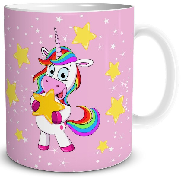 Einhorn Lady Star, Tasse 300 ml, Rosa