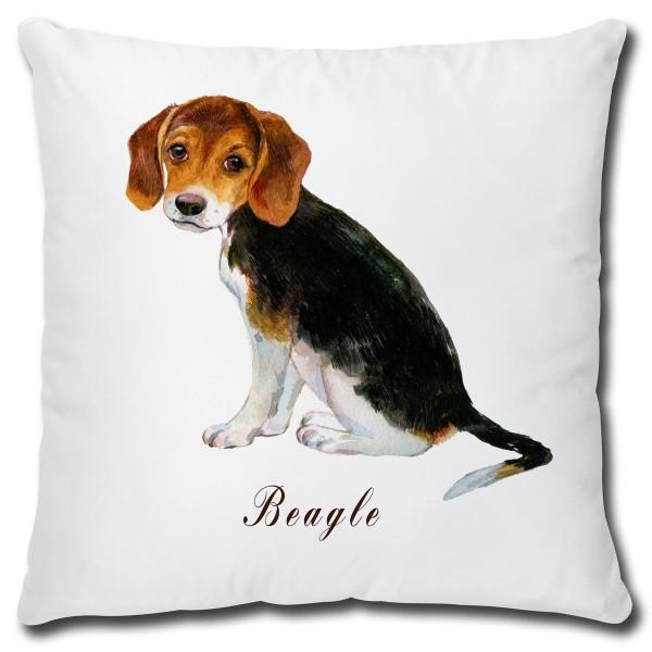 Beagle Hund, Kissen 40x40 cm