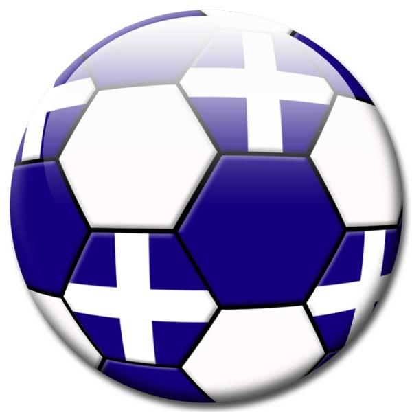Magnet Fußball - Flagge Griechenland - Ø 5 cm