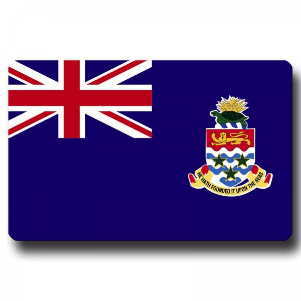 Flagge Kaimaninseln, Magnet 8,5x5,5 cm