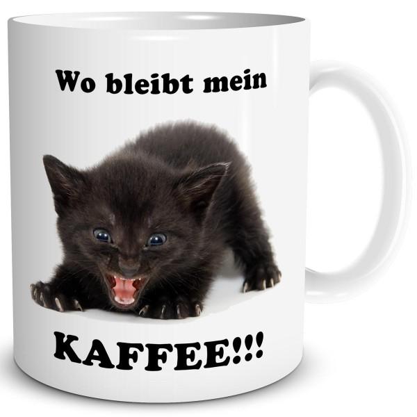 Katze Wo bleibt mein Kaffee, Tasse 300 ml