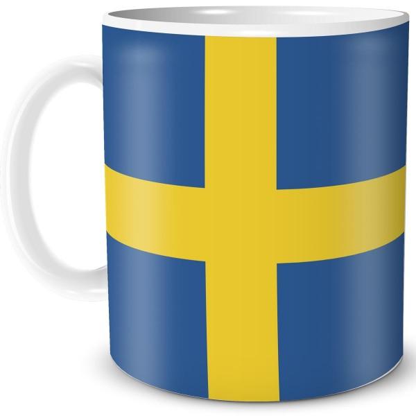 Flagge Schweden, Tasse 300 ml