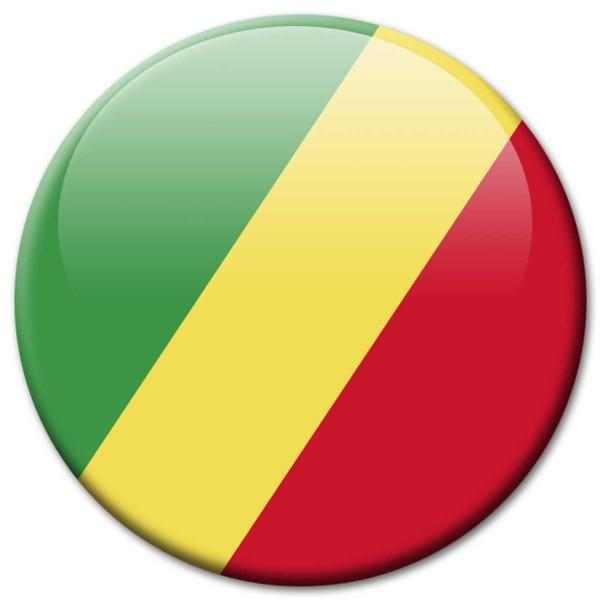 Flagge Kongo Republik, Magnet 5 cm