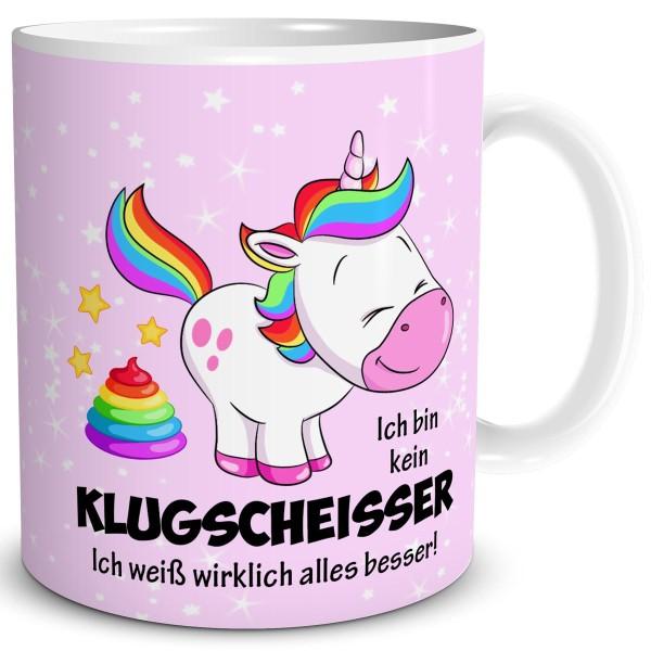 Einhorn Klugscheisser, Tasse 300 ml, Rosa
