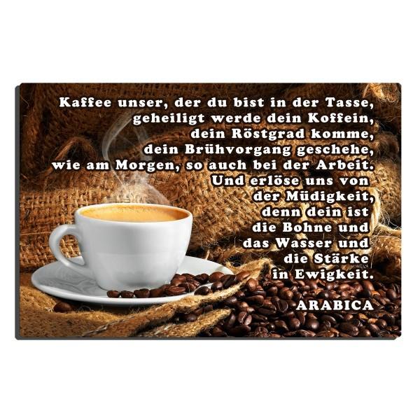 Kaffee Spaßgebet, Blechschild 20x30 cm
