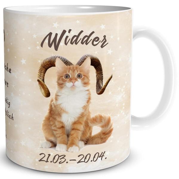 Sternzeichen Widder Katze, Tasse 300 ml