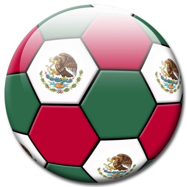 Magnet Fußball - Flagge Mexiko, Mexico WM - Ø 5 cm