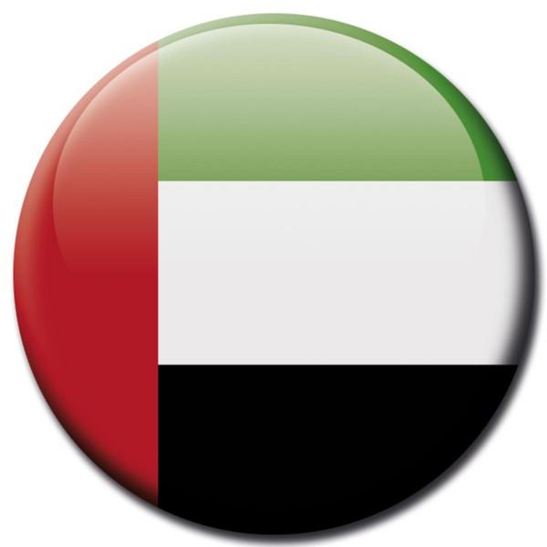 Flagge Vereinigte Arabische Emirate, Magnet 5 cm