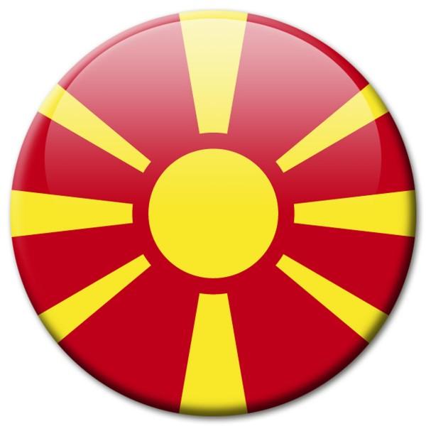 Flagge Mazedonien, Magnet 5 cm