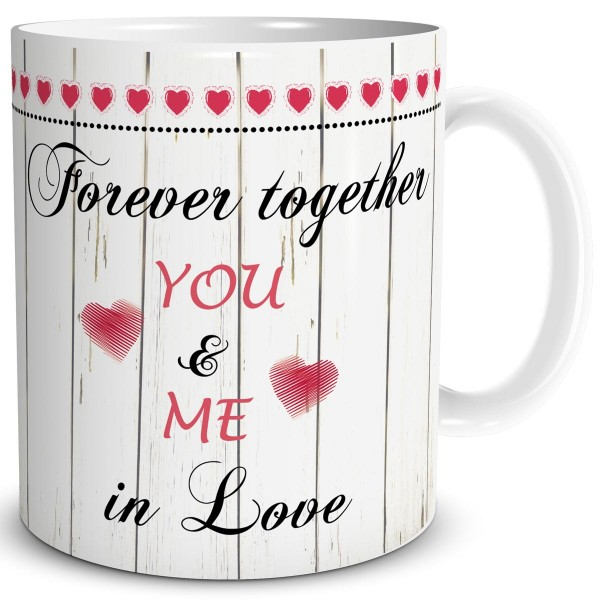 Forever Together You & Me, Tasse 300 ml, Rot