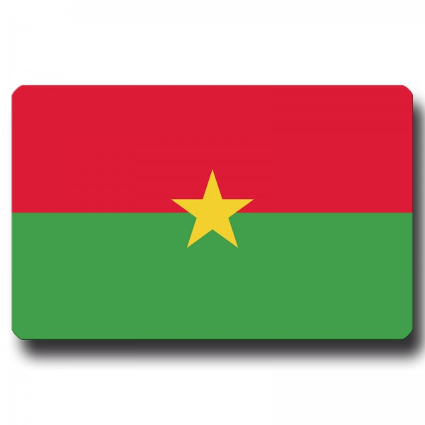 Flagge Burkina Faso, Magnet 8,5x5,5 cm