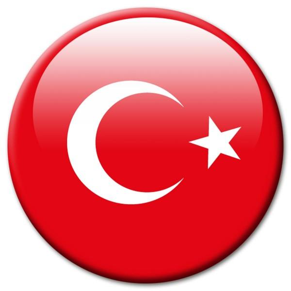 Flagge Türkei, Magnet 5 cm