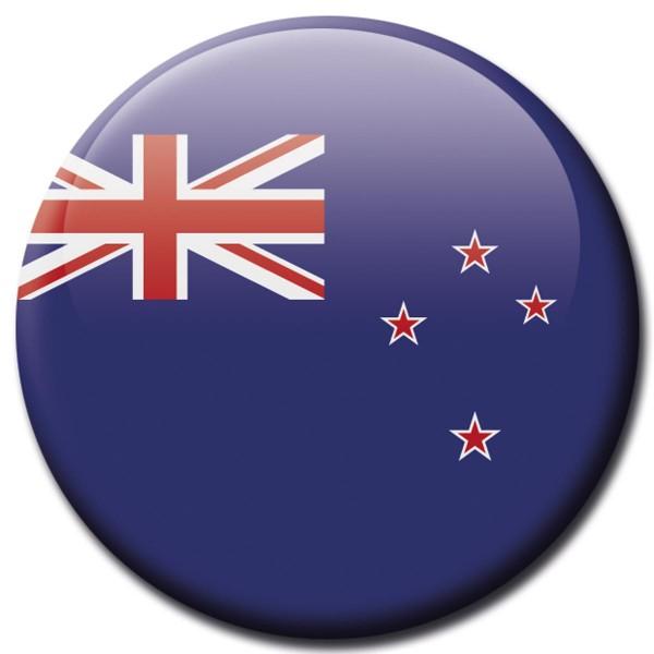 Flagge Neuseeland, Magnet 5 cm